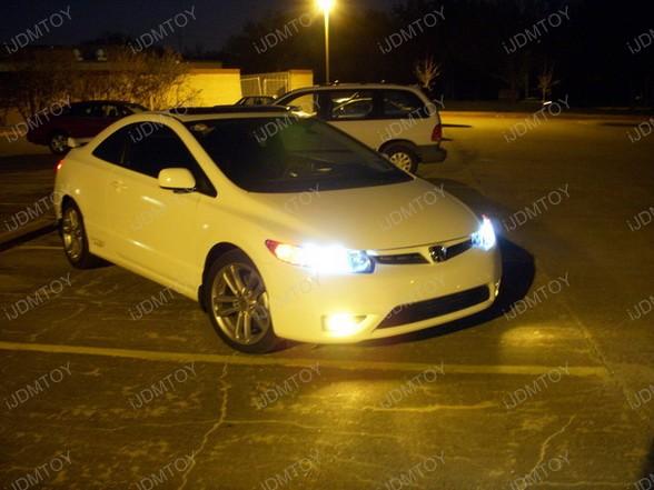 2008 Honda Civic Si Hid Upgrade On Low Beam Super Yellow